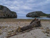 Cuevas del brengt strand in de war Stock Afbeelding