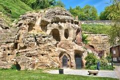 Cuevas del castillo de Nottingham fotografía de archivo libre de regalías