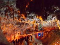 Cuevas del Drach Mallorca. The Caves of Drach are four great caves that are located in the island of Majorca, Balearic Islands, Spain stock photo