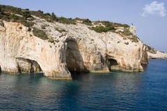 Cuevas del mar - isla de Zakynthos Fotos de archivo libres de regalías