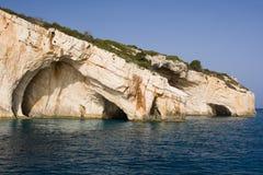 Cuevas del mar - isla de Zakynthos Imagen de archivo libre de regalías