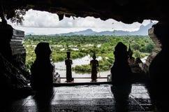 Cuevas del templo de Myanmar Imagen de archivo libre de regalías