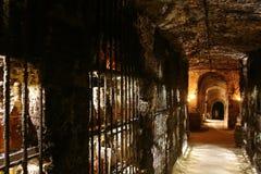 Cuevas del vino de Tokaj Fotos de archivo