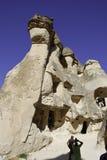 Cuevas en toba volcánica Imágenes de archivo libres de regalías