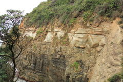 Cuevas notables en montaña tropical Imagen de archivo