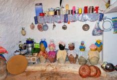 Cuevas residenciales de la troglodita Foto de archivo libre de regalías