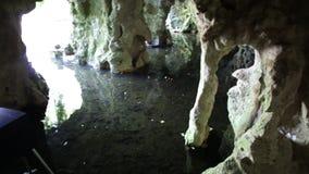 Cuevas subterráneos del río almacen de video