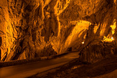 The Cuevona going through, the only access to the village of Cue Stock Photos