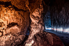The Cuevona going through, the only access to the village of Cue Royalty Free Stock Image