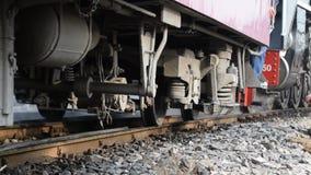 Cueza el tren al vapor en el ferrocarril del estado de Tailandia 119 años de aniversario almacen de metraje de vídeo