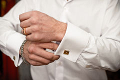 А cuff link.А cuff link. Stock Images