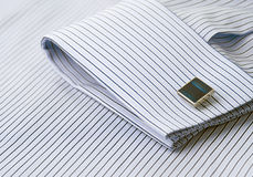Cuff link and sleeve detail Stock Images