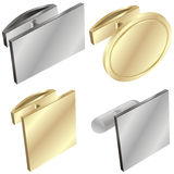 Cuff links. Vector illustration of four different cuff links Stock Photography
