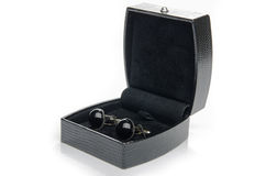 Cuff links in a box Royalty Free Stock Images