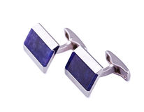 Cuff links close up Royalty Free Stock Photo