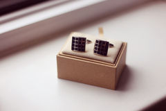 Cuff Links for man Royalty Free Stock Photography