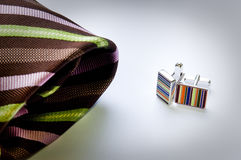 Cuff Links and Tie Stock Images
