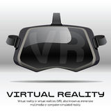 Cuffia avricolare stereoscopica originale di 3d VR Front View Immagine Stock