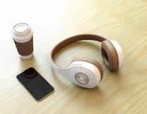 Cuffia e Smart Phone senza fili illustrazione di stock
