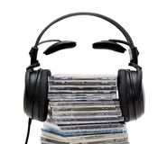 Cuffie con CD Fotografie Stock