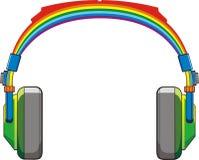Cuffie del Rainbow Fotografia Stock Libera da Diritti