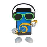 Cuffie di Smartphone Fotografia Stock
