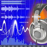 Cuffie ed audio compensatore Fotografie Stock