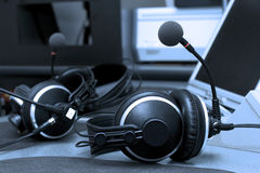 Cuffie radiofoniche Fotografia Stock