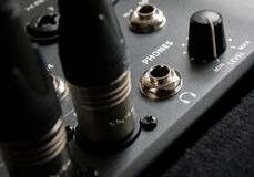 Cuffie radiofoniche nere fotografia stock libera da diritti