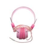 Cuffie rosa per i bambini fotografia stock