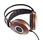 Cuffie stereo isolate su bianco Immagine Stock Libera da Diritti