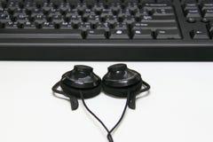 Cuffie, unità della tastiera Fotografia Stock Libera da Diritti