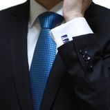 Cufflink display Stock Images