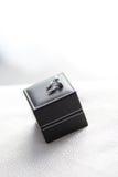 Cufflink na czarnym pudełku Zdjęcie Stock