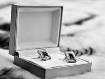 cufflinks коробки Стоковое Изображение RF