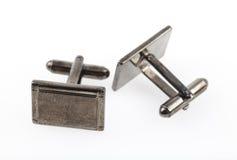 cufflinks серебрят tarnished Стоковая Фотография RF