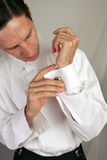 cufflinks укомплектовывают личным составом носить Стоковая Фотография