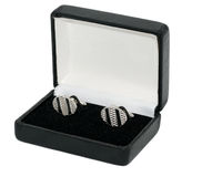 Cufflinks in box Royalty Free Stock Photography