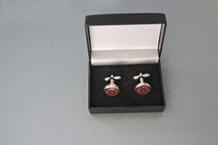 Cufflinks in box Royalty Free Stock Image