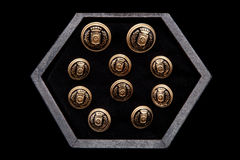 Cufflinks On Dark BoxConcept Of Men& X27;s Look Stock Images