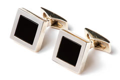 Cufflinks. A pair of cufflinks isolated on white Stock Photography