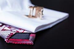 Cufflinks, styl, mody akcesorium Zdjęcia Stock