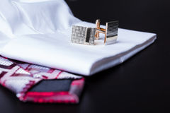 Cufflinks, style,moda accessory Royalty Free Stock Images