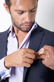 Cuffs. Man's style. dressing suit, shirt and cuffs Stock Photography