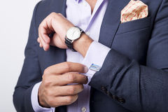 Cuffs. Man's style. dressing suit, shirt and cuffs Stock Photos