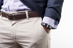 Cuffs. Man's style. dressing suit, shirt and cuffs Stock Photo