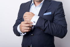 Cuffs. Man's style. dressing suit, shirt and cuffs Royalty Free Stock Photo