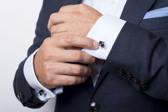 Cuffs. Man's style. dressing suit, shirt and cuffs Royalty Free Stock Images