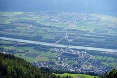 Cugiel i dolina w Lihtenstein zdjęcia stock