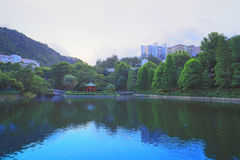 CUHK Reflection of the Lake Shatin Stock Images